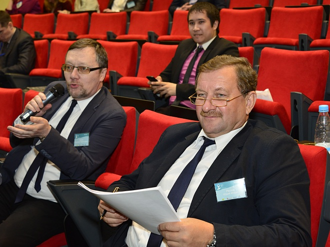 "Valery Galkin, (Head of Innovations, Economic Development Department of Yugra) and Yury Reutov (Director of AI ""High Technology Park of Yugra"")"